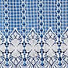 Macrame Cafe Net Tab Top Curtain Fabric  undefined