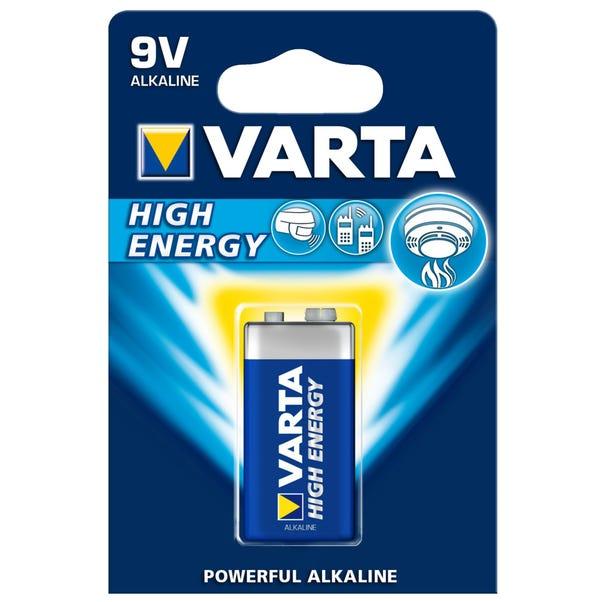 Varta High Energy 9V Battery Blue