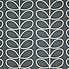 Orla Kiely Linear Stem Cool Grey Cotton Fabric