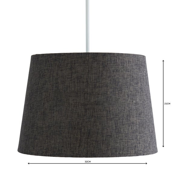 Vermont 30cm Tapered Charcoal Shade