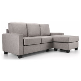 Carla Reversible Fabric Corner Chaise Sofa Dunelm
