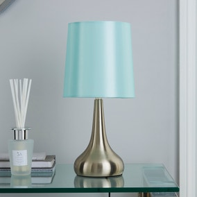 Rimini Duck Egg Touch Dimmable Lamp Dunelm