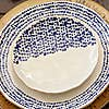 Set of 4 Mikasa Azores Speckle Side Plates Blue