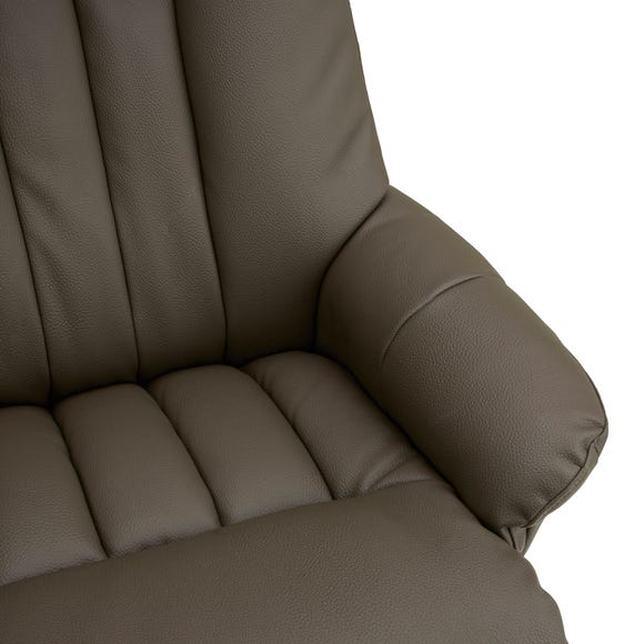 Nelson Swivel Recliner Chair And Footstool - Grey