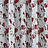 Ellis Floral Jacquard Red Pencil Pleat Curtains  undefined