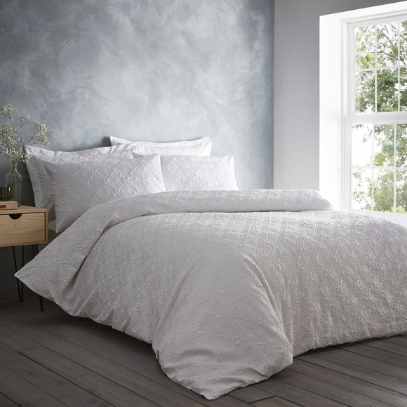 Astra Textured White Duvet Cover and