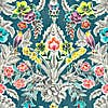 NuWallpaper Summer Love Teal Self Adhesive Wallpaper