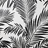 Mono Palm Glitter Wallpaper Black and white