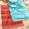 Catherine Lansfield Rainbow Red and Blue Beach Towel Twin Pack