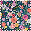 Floral Garden Large Teal Sewing Box  undefined