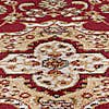 Antalya Traditional Circle Rug Red undefined
