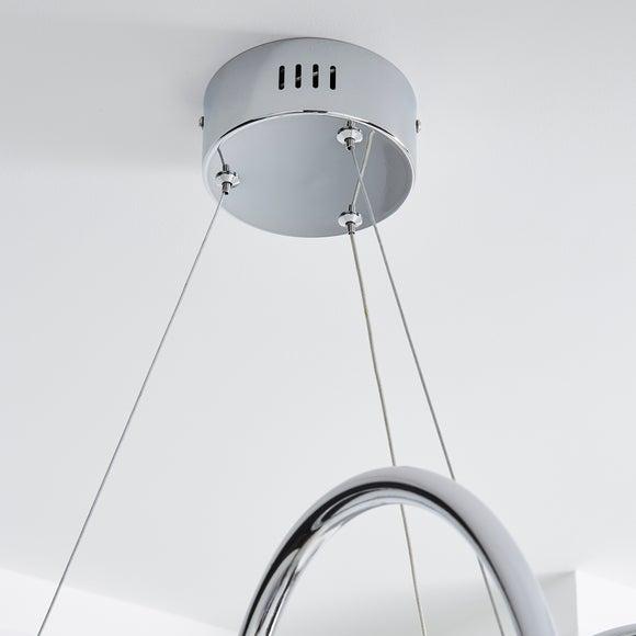 Skylar Curly LED Ceiling Fitting | Dunelm