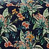 Nohea Navy Tropical Reversible 100% Cotton Duvet Cover and Pillowcase Set  undefined