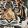Equatorial Tiger Tapestry Cushion Multicoloured MultiColoured undefined