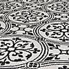 Casablanca Monochrome Indoor Outdoor Runner Black and white