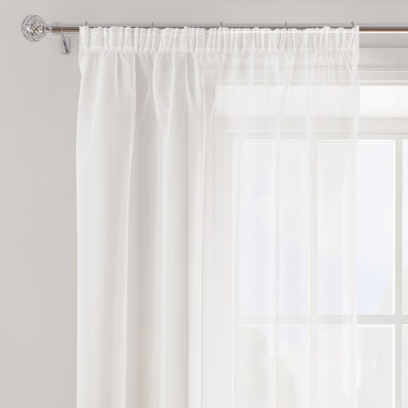 Sheer Elegance White Tape Top Single Voile Panel White undefined