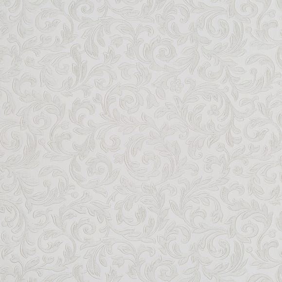 White Embossed Vine PVC White