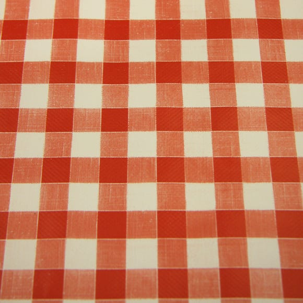 Gingham PVC Red