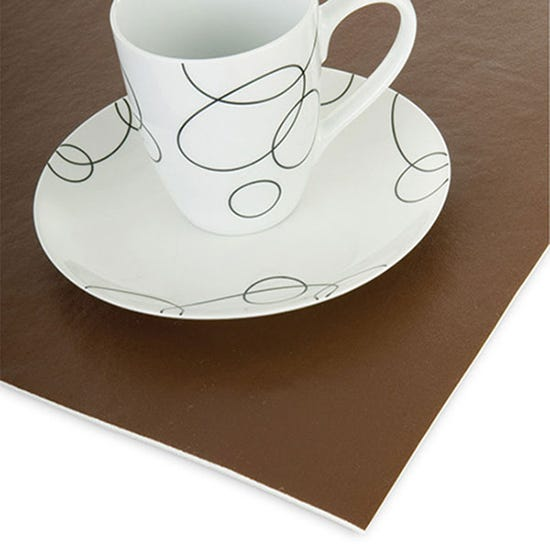 Brown Executive Felt Table Protector Brown undefined