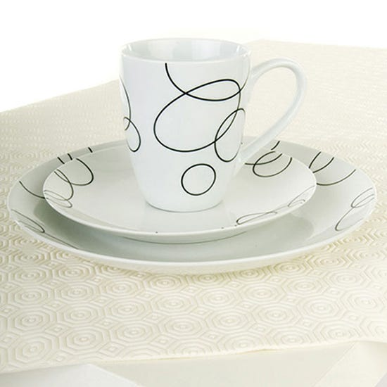 Luxury Pre Cut Table Protector White undefined