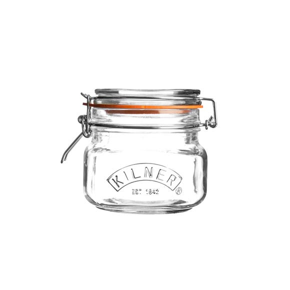 Kilner 0.5 Litres Clip Top Glass Jar Clear