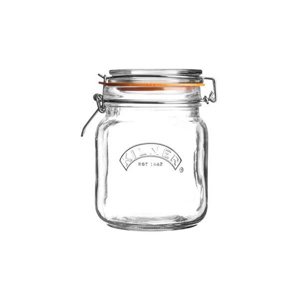 Kilner 1 Litre Clip Top Glass Jar Clear