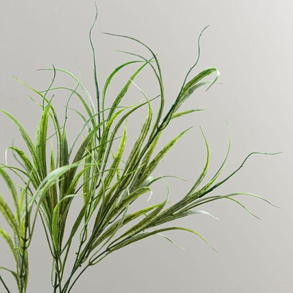 Artificial Vanilla Grass Green Single Spray 67cm Green