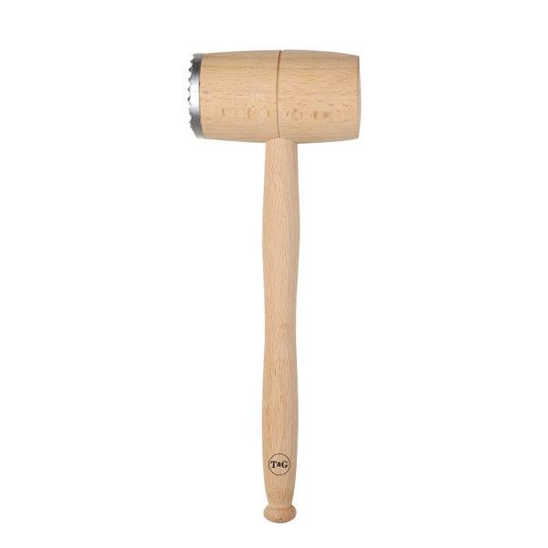 T&G Beech Wood Meat Hammer Brown