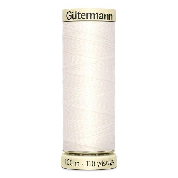 Gutermann Sew All Thread Soft White (111)  undefined