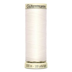 Gutermann Sew All Thread Soft White (111)