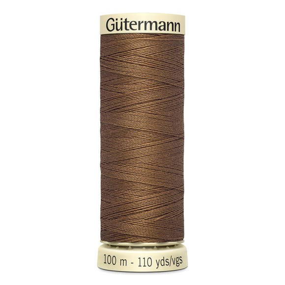 Gutermann 100m Sew All Cotton Thread Spice Brown (124)
