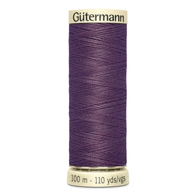 Gutermann 100m Sew All Cotton Thread Rich Purple (128)