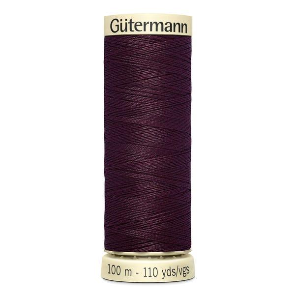 Gutermann 100m Sew All Cotton Thread Deep Plum (130)