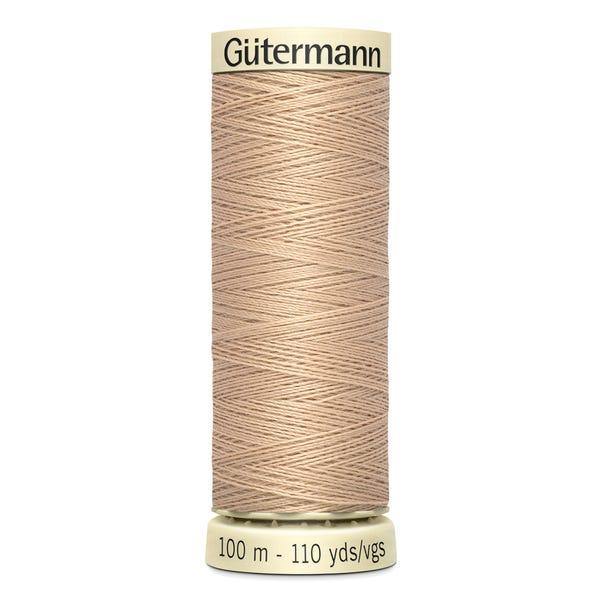 Gutermann 100m Sew All Cotton Thread Light Fawn (170)