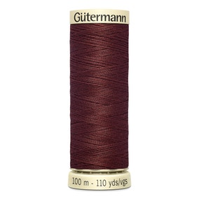 Gutermann 100m Sew All Cotton Thread Rich Brown (174)