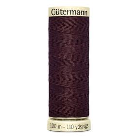 Gutermann 100m Sew All Cotton Thread Deep Chocolate (175)