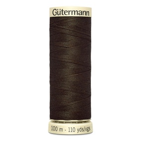 Gutermann 100m Sew All Cotton Thread Deep Brown (21)