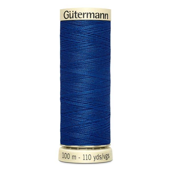 Gutermann 100m Sew All Cotton Thread Deep Blue (214)