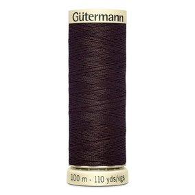 Gutermann 100m Sew All Cotton Thread Dark Brown (23)