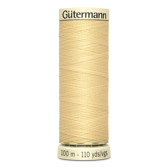Gutermann Sew All Thread 100m Canary Yellow (325) Yellow undefined