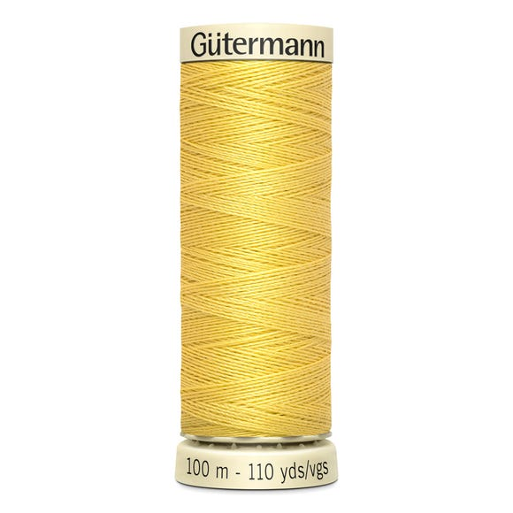 Gutermann Sew All Thread 100m Buttercup Yellow (327) Yellow undefined