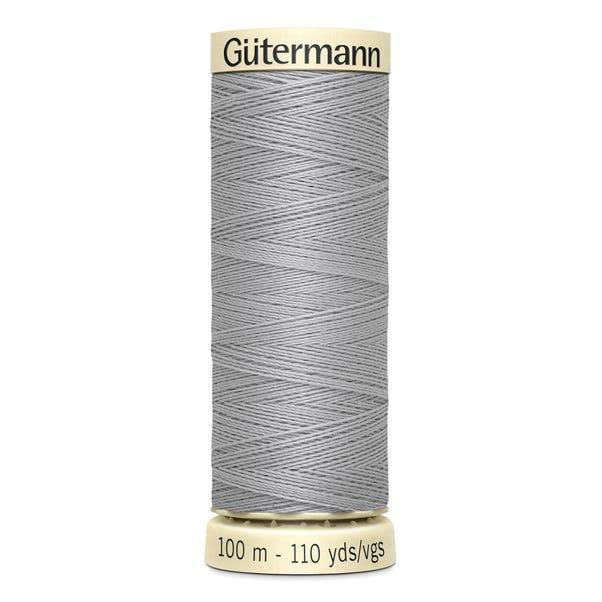Gutermann 100m Sew All Cotton Thread Light Grey (38) Light Grey