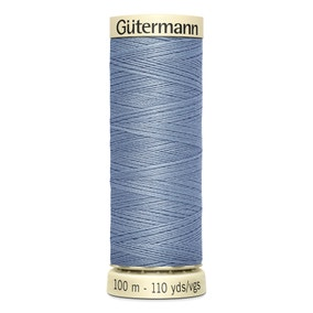 Gutermann 100m Sew All Cotton Thread Smoke Blue (64)