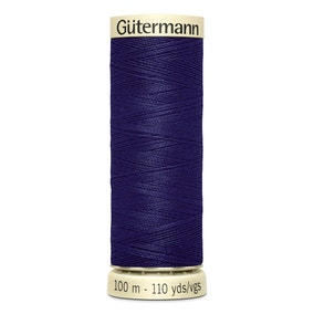 Gutermann 100m Sew All Cotton Thread Deep Indigo (66)
