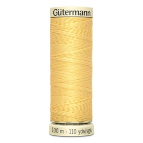 Gutermann 100m Sew All Cotton Thread Yellow (7)