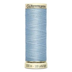 Gutermann 100m Sew All Cotton Thread Pale Blue (75)
