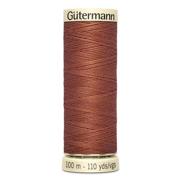 Gutermann Sew All Thread 100m Spice Brown (847) Brown undefined