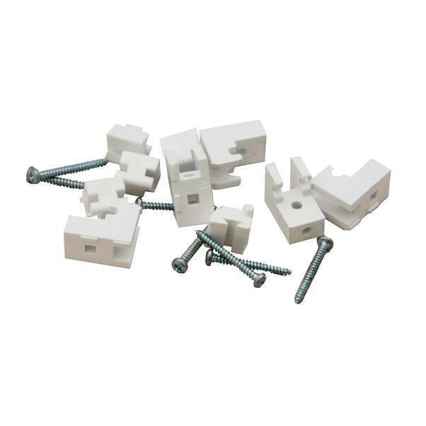 Pack of 5 Plastic Brackets White