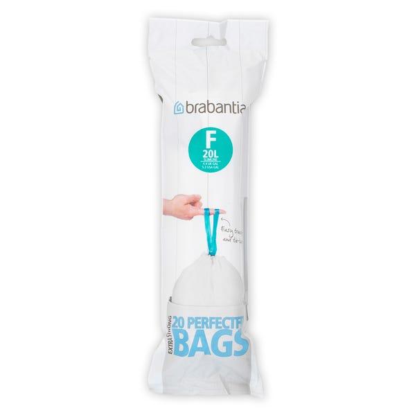 Brabantia 20-Litre Smart Fix Slim Waste Bags Clear