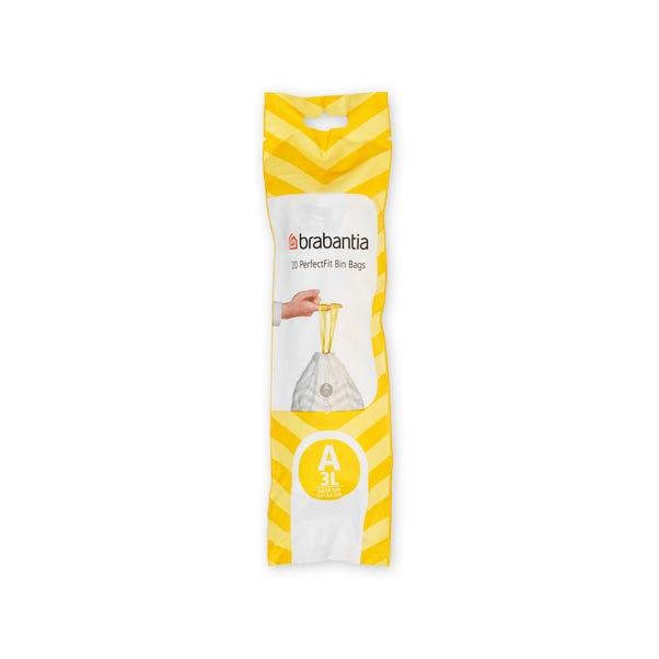 Brabantia 3-Litre Clear Bin Bags Clear